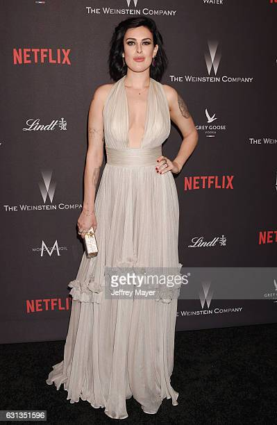 Actress Rumer Willis attends The Weinstein Company and Netflix Golden Globe Party presented with FIJI Water Grey Goose Vodka Lindt Chocolate and...