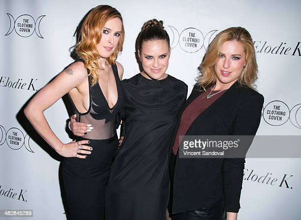Actress Rumer Willis blogger Tallulah Willis and Scout LaRue Willis attend Tallulah Willis and Mallory Llewellyn celebrate the launch of their new...