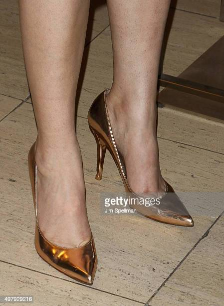 Actress Rumer Willis shoe detail attends the Chris Salgardo's MANMADE book prelaunch party at Saks Fifth Avenue on November 19 2015 in New York City