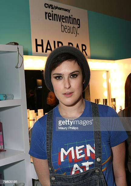 Actress Rumer Willis with CVS at the Access Hollywood Stuff You Must Lounge Presented by On 3 Productions at Sofitel Hotel on January 12 2008 in...