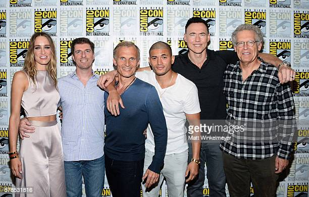 Actress Ruta Gedmintas creator Chuck Hogan actors Richard Sammel Miguel Gomez Kevin Durand and executive producer Carlton Cuse attend FX's The Strain...