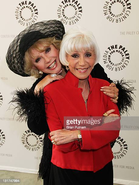 Actress Ruta Lee and Rona Barrett arrive to Rona Barrett Nothing But The Truth Los Angeles Premiere at The Paley Center for Media on June 17 2010 in...