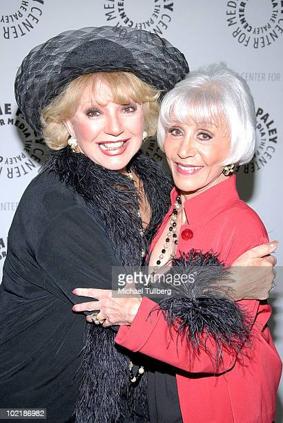 Actress Ruta Lee and TV host Rona Barrett arrive at 'PaleyFest Rewind 2010 Presents Rona Barrett Nothing But The Truth' held at the Paley Center for...