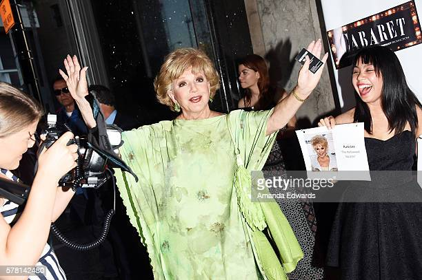 Actress Ruta Lee arrives at the opening of 'Cabaret' at the Hollywood Pantages Theatre on July 20 2016 in Hollywood California