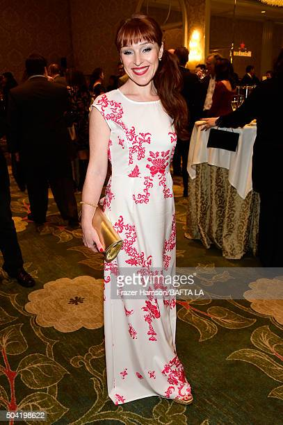 Actress Ruth Connell attends the BAFTA Los Angeles Awards Season Tea at Four Seasons Hotel Los Angeles at Beverly Hills on January 9 2016 in Los...