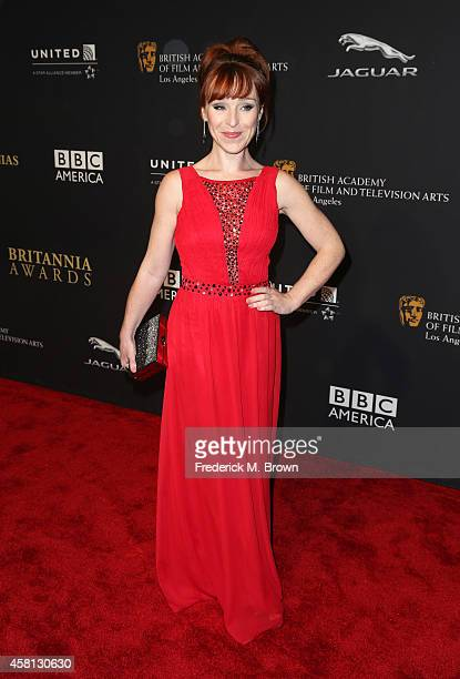 Actress Ruth Connell attends the BAFTA Los Angeles Jaguar Britannia Awards presented by BBC America and United Airlines at The Beverly Hilton Hotel...