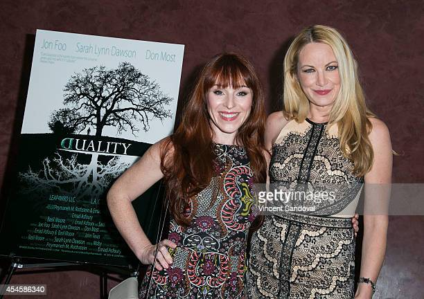 Actress Ruth Connell attends the Los Angeles premiere of Duality at Landmark Theatre on September 3 2014 in Los Angeles California