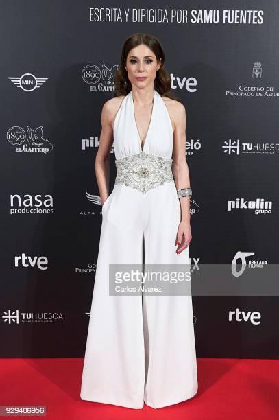 Actress Ruth Diaz attends 'Bajo La Piel del Lobo' premiere at the Callao cinema on March 8 2018 in Madrid Spain