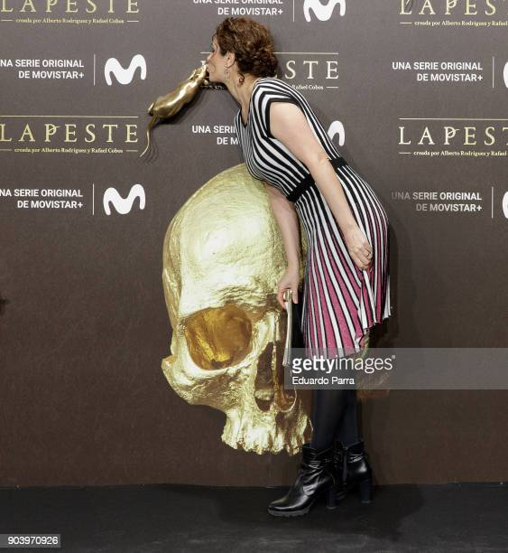 Actress Ruth Gabriel attends the 'La peste' premiere at Callao cinema on January 11 2018 in Madrid Spain