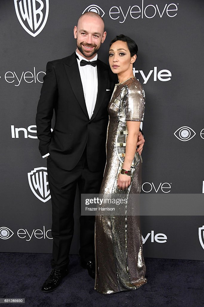 Actress Ruth Negga (R) and guest attend the 18th Annual Post-Golden Globes Party hosted by Warner Bros. Pictures and InStyle at The Beverly Hilton Hotel on January 8, 2017 in Beverly Hills, California.