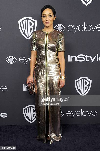 Actress Ruth Negga arrives at the 18th Annual PostGolden Globes Party hosted by Warner Bros Pictures and InStyle at The Beverly Hilton Hotel on...