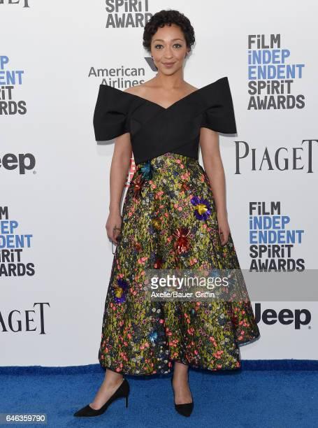 Actress Ruth Negga arrives at the 2017 Film Independent Spirit Awards on February 25 2017 in Santa Monica California