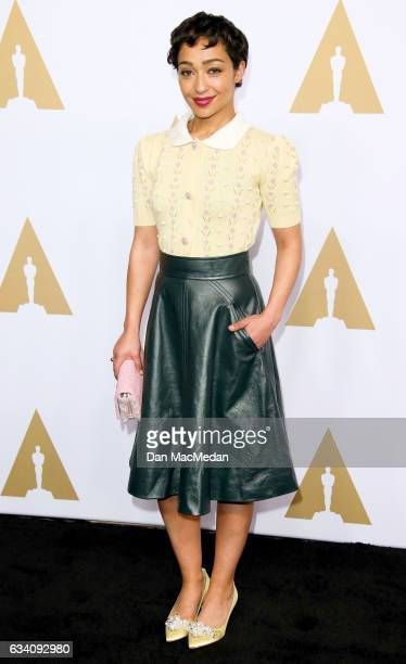 Actress Ruth Negga arrives at the 89th Annual Academy Awards Nominee Luncheon at The Beverly Hilton Hotel on February 6 2017 in Beverly Hills...