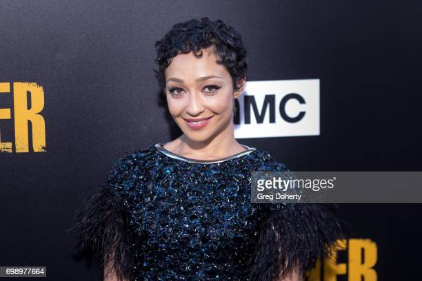 Actress Ruth Negga arrives for the Premiere Of AMC's Preacher Season 2 at The Theatre at Ace Hotel on June 20 2017 in Los Angeles California