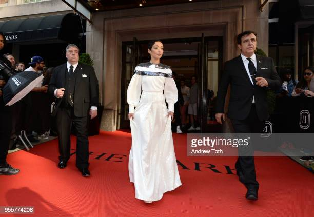 Actress Ruth Negga attends as The Mark Hotel celebrates the 2018 Met Gala at The Mark Hotel on May 7 2018 in New York City
