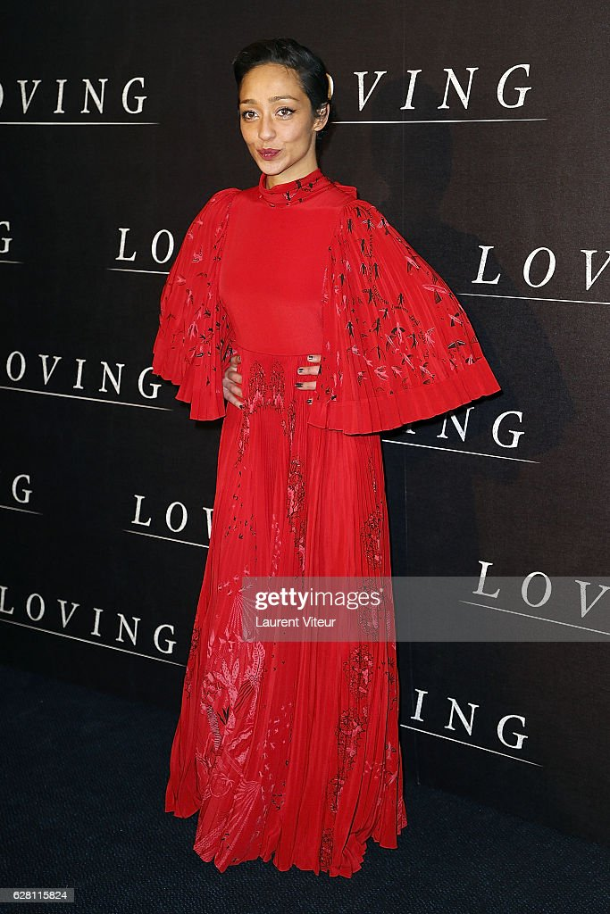 Actress Ruth Negga attends 'Loving' Paris Premiere at Cinema UGC Normandie on December 6, 2016 in Paris, France.