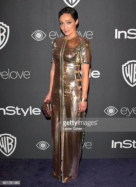 Actress Ruth Negga attends the 18th Annual PostGolden Globes Party hosted by Warner Bros Pictures and InStyle at The Beverly Hilton Hotel on January...
