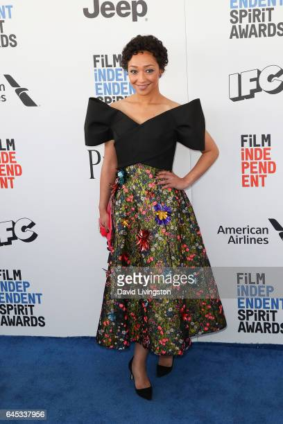 Actress Ruth Negga attends the 2017 Film Independent Spirit Awards on February 25 2017 in Santa Monica California