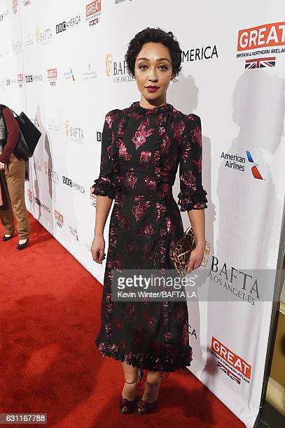 Actress Ruth Negga attends The BAFTA Tea Party at Four Seasons Hotel Los Angeles at Beverly Hills on January 7 2017 in Los Angeles California