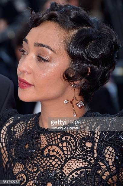 Actress Ruth Negga attends the 'Loving' premiere during the 69th annual Cannes Film Festival at the Palais des Festivals on May 16 2016 in Cannes...