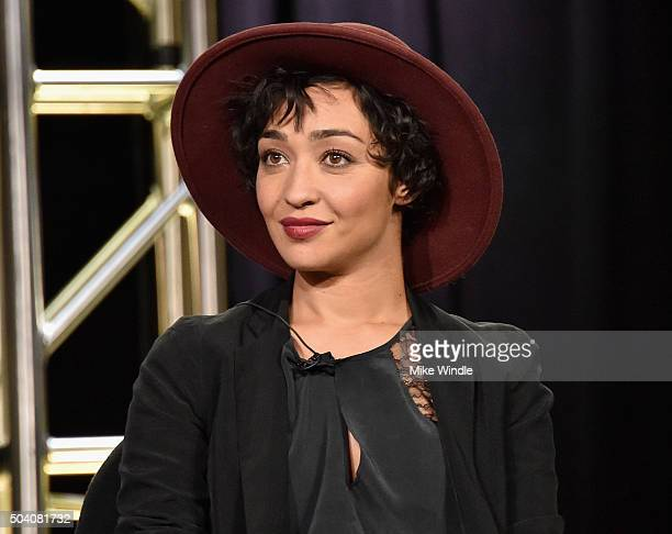 """Actress Ruth Negga speaks onstage during the AMC Winter TCA Press Tour 2016 """"Preacher"""" panel at The Langham Huntington Hotel and Spa on January 8,..."""