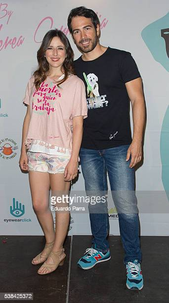 Actress Ruth Nunez and Alejandro Tous attend the ''By Nerea Garmendia' 2nd anniversary party photocall at COAM on June 6 2016 in Madrid Spain