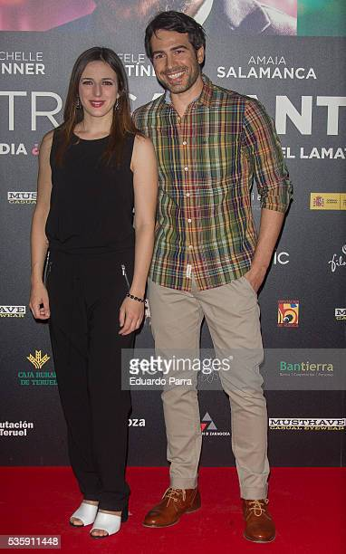Actress Ruth Nunez and Alejandro Tous attend the 'Nuestros Amantes' premiere at Palafox cinema on May 30 2016 in Madrid Spain