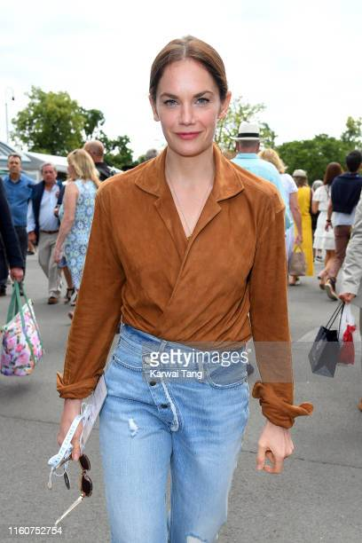 Actress Ruth Wilson attends day seven of the Wimbledon Tennis Championships at All England Lawn Tennis and Croquet Club on July 08, 2019 in London,...