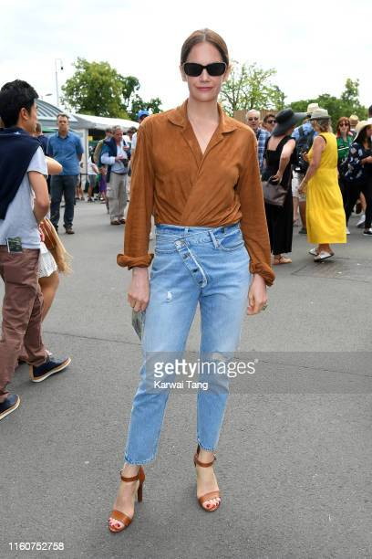 Actress Ruth Wilson attends day seven of the Wimbledon Tennis Championships at All England Lawn Tennis and Croquet Club on July 08 2019 in London...