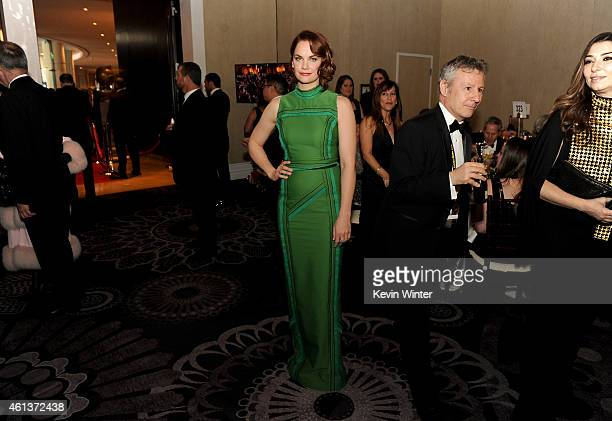 Actress Ruth Wilson attends the 72nd Annual Golden Globe Awards cocktail party at The Beverly Hilton Hotel on January 11 2015 in Beverly Hills...
