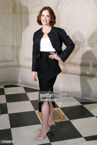 Actress Ruth Wilson attends the Christian Dior show as part of the Paris Fashion Week Womenswear Fall/Winter 20142015 on February 28 2014 in Paris...