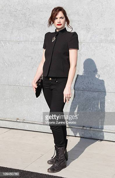 Actress Ruth Wilson attends the Emporio Armani show as part of Milan Fashion Week Womenswear Autumn/Winter 2011 on February 26 2011 in Milan Italy