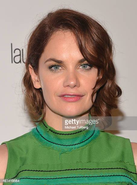 Actress Ruth Wilson celebrates her win at the 2015 Weinstein Company and Netflix Golden Globes After Party on January 11 2015 in Beverly Hills...