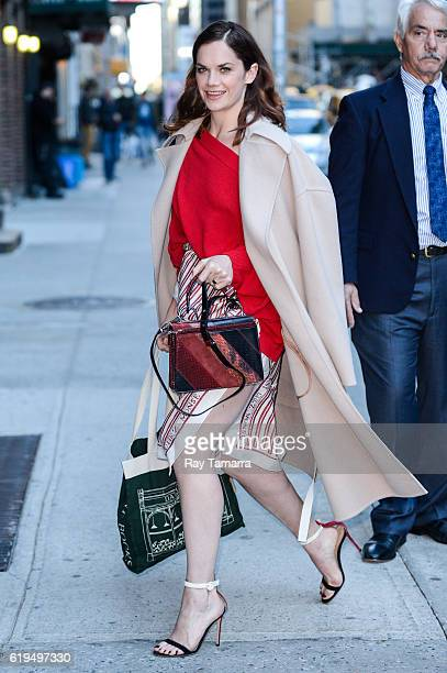 Actress Ruth Wilson enters The Late Show With Stephen Colbert taping at the Ed Sullivan Theater on October 31 2016 in New York City