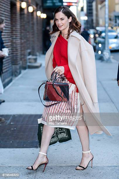 Actress Ruth Wilson enters 'The Late Show With Stephen Colbert' taping at the Ed Sullivan Theater on October 31 2016 in New York City