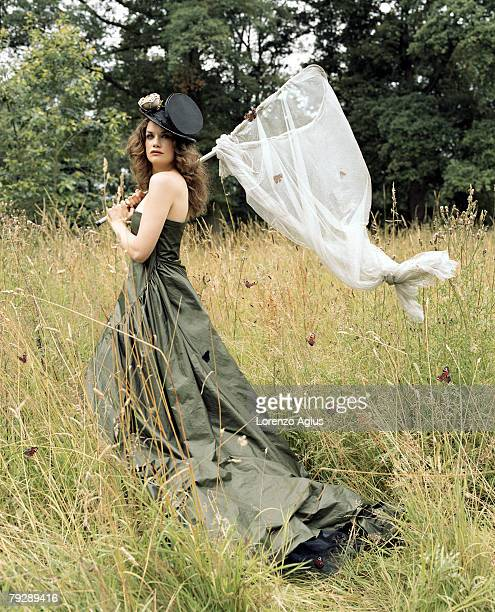 Actress Ruth Wilson poses for a portrait shoot for Harpers Bazaar magazine in New York on July 11 2007