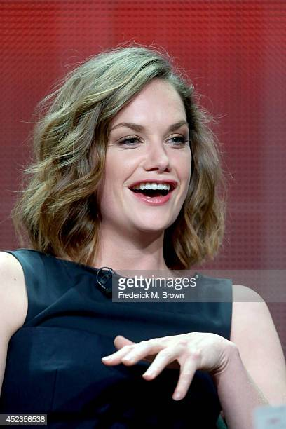 Actress Ruth Wilson speaks onstage at the 'The Affair' panel during the SHOWTIME Network portion of the 2014 Summer Television Critics Association at...