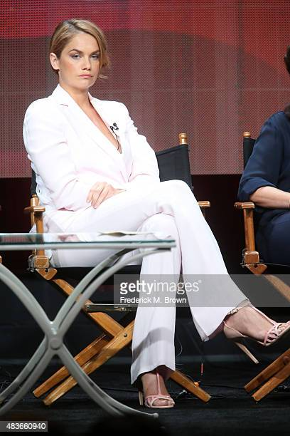 Actress Ruth Wilson speaks onstage during the 'The Affair' panel discussion at the Showtime portion of the 2015 Summer TCA Tour at The Beverly Hilton...