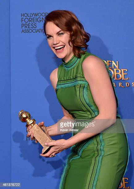 Actress Ruth Wilson, winner of Best Actress in a Television Series – Drama for 'The Affair,' poses in the press room during the 72nd Annual Golden...