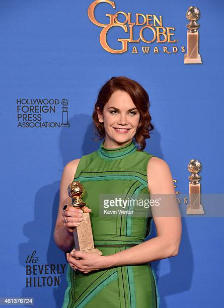 Actress Ruth Wilson winner of Best Actress in a Television Series – Drama for 'The Affair' poses in the press room during the 72nd Annual Golden...