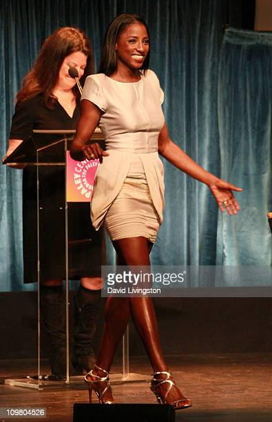 Actress Rutina Wesley appears on stage at PaleyFest 2011 presents True Blood at the Saban Theatre on March 5 2011 in Beverly Hills California