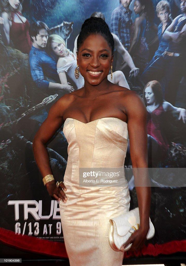Actress Rutina Wesley arrives at HBO's 'True Blood' Season 3 premiere held at ArcLight Cinemas Cinerama Dome on June 8, 2010 in Hollywood, California.