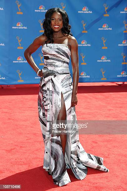 Actress Rutina Wesley arrives at the 62nd Annual Primetime Emmy Awards held at the Nokia Theatre LA Live on August 29 2010 in Los Angeles California