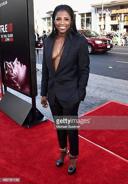Actress Rutina Wesley attends Premiere Of HBO's True Blood Season 7 And Final Season at TCL Chinese Theatre on June 17 2014 in Hollywood California