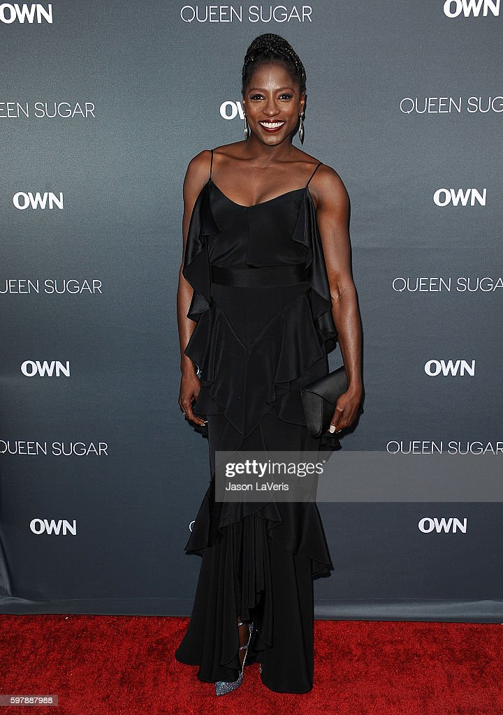 Actress Rutina Wesley attends the premiere of 'Queen Sugar' at Warner Bros. Studios on August 29, 2016 in Burbank, California.