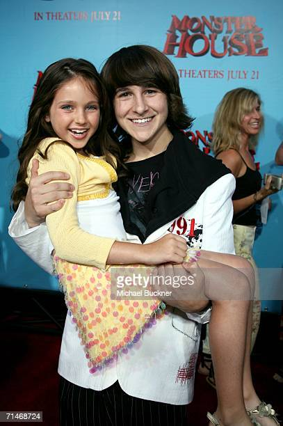 Actress Ryan Newman and actor Mitchel Musso arrive at Sony Pictures premiere of Monster House held at Mann's Village Theatre on July 17 2006 in...