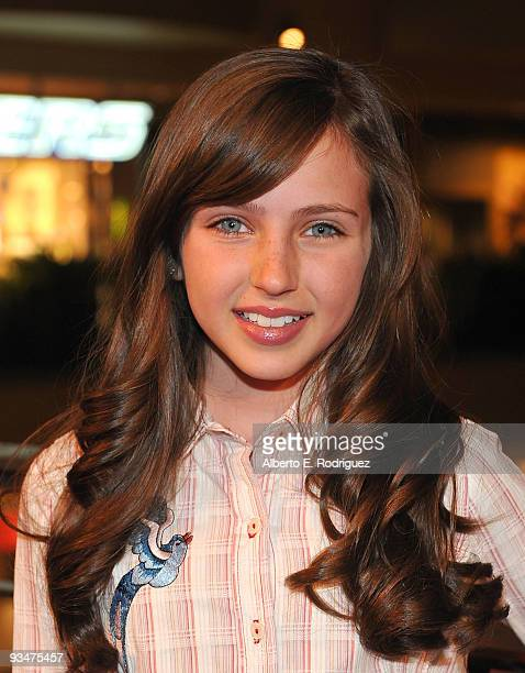 Actress Ryan Newman arrives at Hollywood Highland Center and One Heartland's Holiday of Hope tree lighting celebration on November 28 2009 in...