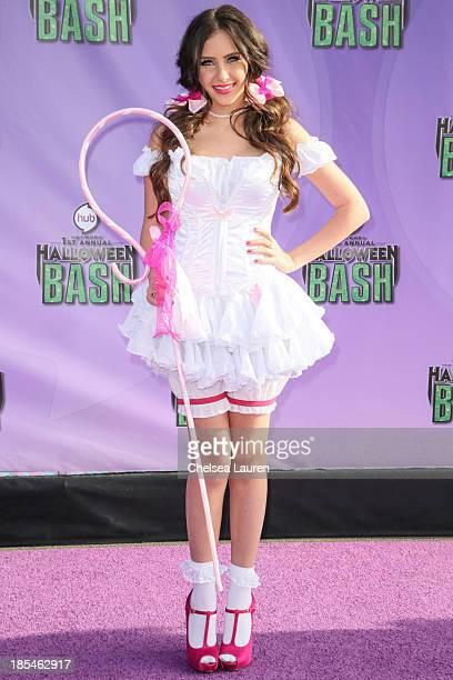 Actress Ryan Newman arrives at Hub Network's 1st annual Halloween bash at Barker Hangar on October 20 2013 in Santa Monica California