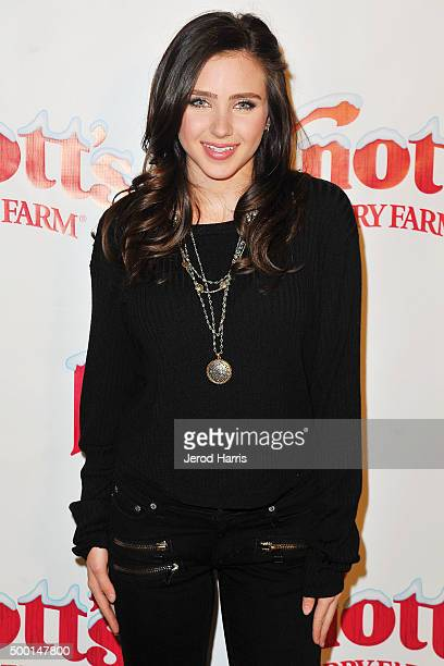Actress Ryan Newman attends Knott's Merry Farm Countdown to Christmas Tree Lighting at Knott's Berry Farm on December 5 2015 in Buena Park California