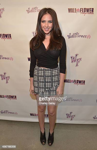 Actress Ryan Newman attends Wallflower Jeans Fashion Night Out With Olivia Holt on October 6 2014 in Los Angeles California